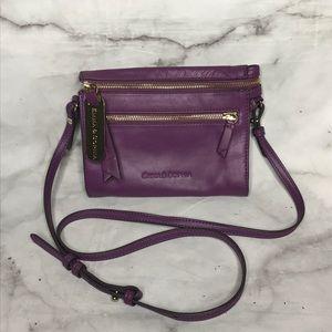 💥 Emma & Sophia purple leather crossbody bag